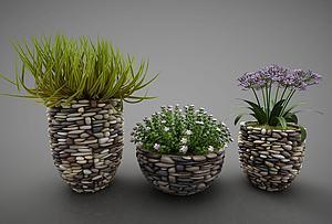 绿色植物盆栽模型3d模型