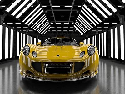 C4D軒尼詩毒液GT跑車模型