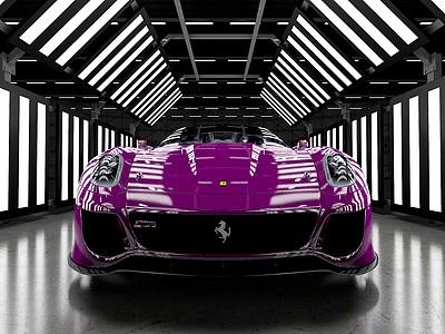 C4D<font class='myIsRed'>法拉利</font>Ferrari599跑車模型