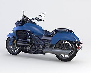 本田摩托車模型3d模型
