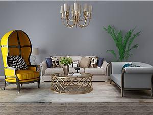 家具饰品组合模型3d模型