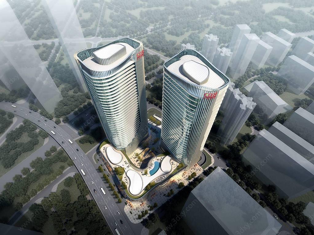 现代综合体办公大厦