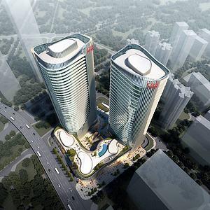 現代綜合體辦公大廈3d模型