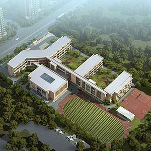 現代學校建筑3d模型