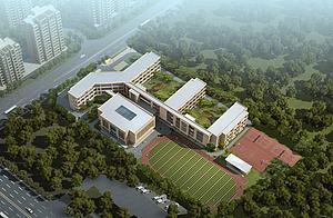 现代学校建筑模型3d模型