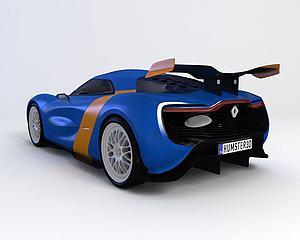 ?雷诺Alpine  2012款模型3d模型
