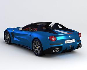 法拉利跑车模型3d模型