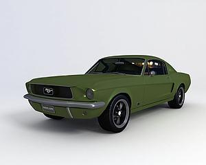 福特野马模型3d模型