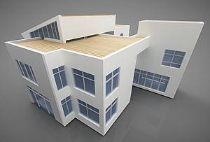 現代別墅風格模型3d模型