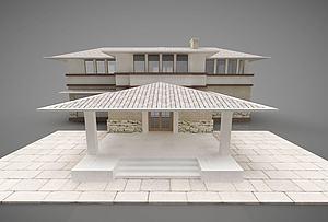 現代風格別墅模型3d模型