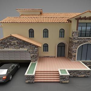 現代別墅風格3d模型