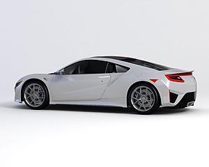 本田跑车模型3d模型