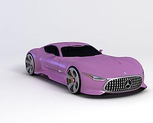 梅賽德斯奔馳遠景大賽車模型3d模型