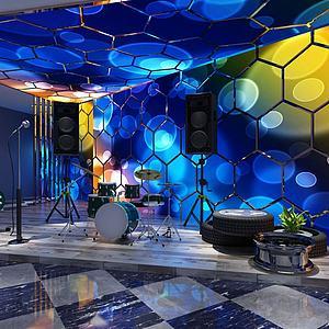 KTV酒吧舞臺3d模型