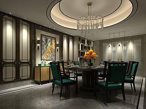中式餐厅包间模型3d模型