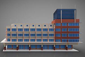 現代建筑風格模型3d模型