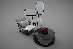 现代桌椅风格模型3d模型