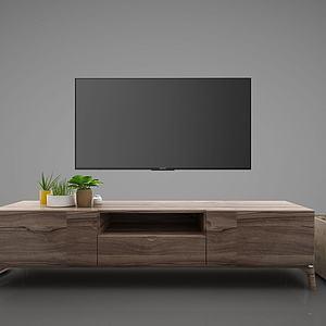 現代風格電視柜3d模型