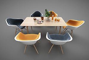 现代时尚餐桌模型3d模型