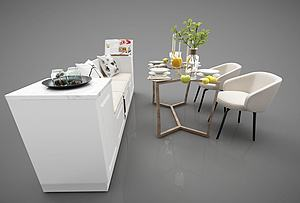 沙发餐桌模型3d模型