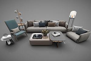 客廳沙發茶幾組合模型3d模型