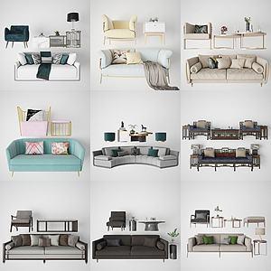 各种双人沙发3d模型