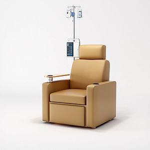 现代输液椅沙发饰品3d模型
