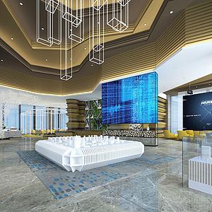 售楼处-展示厅3d模型