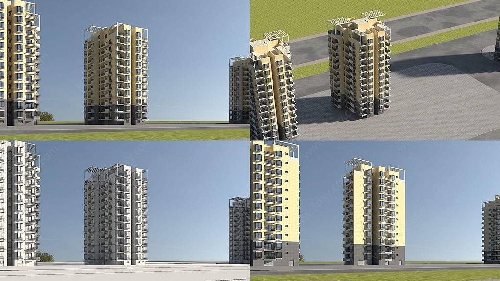 小区住宅高层建筑