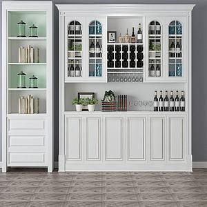 现代家具组合柜3d模型