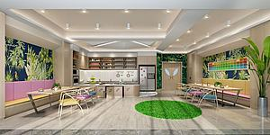 简约餐厅奶茶店模型3d模型