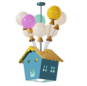 儿童房吊灯模型3d模型