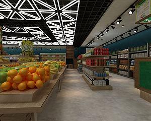 大型水果超市模型3d模型