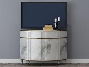 客厅装修电视柜模型3d模型
