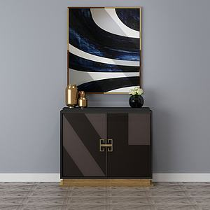 客厅装修边柜装饰柜模型3d模型