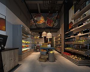 果蔬超市模型3d模型