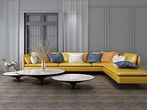 客厅家具饰品组合模型3d模型