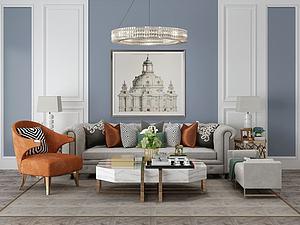 起居室客厅家具饰品组合模型3d模型