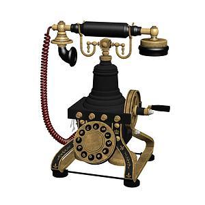 老式电话3d模型