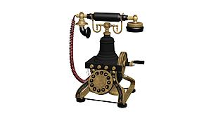 老式電話模型3d模型