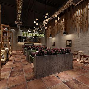 仿古式餐厅3d模型