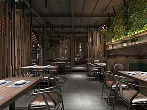 工業復古餐廳模型3d模型