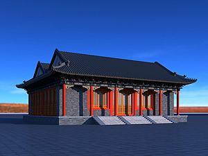 恭王府古建筑模型3d模型