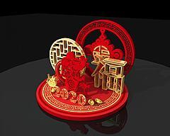 新年商展模型3D模型