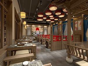 老北京餐馆模型3d模型