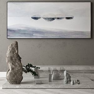 石頭擺件模型3d模型