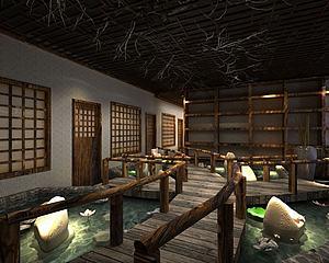 老北京饭店模型3d模型