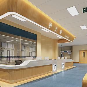 医院护士站3d模型