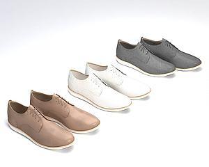 休閑鞋模型3d模型