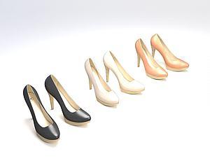 高跟鞋模型3d模型